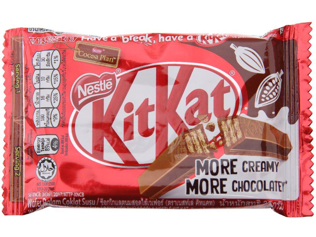 Bánh xốp phủ socola KitKat 35g 1