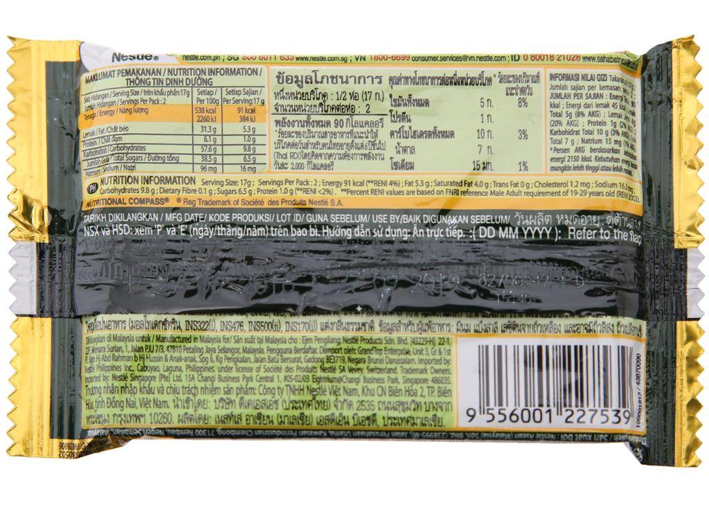 Bánh xốp phủ trà xanh KitKat gói 35g 2