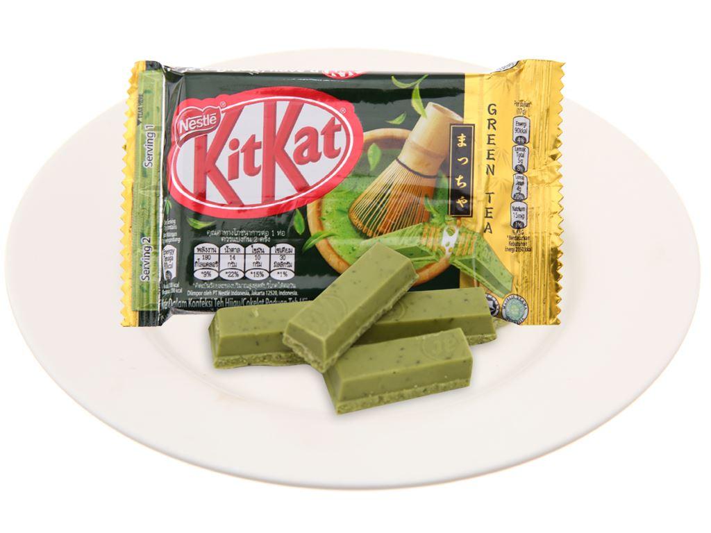 Bánh xốp phủ trà xanh KitKat gói 35g 4