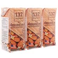 Sữa hạnh nhân 137 Degrees Mật hoa dừa hộp 180ml (3 hộp)