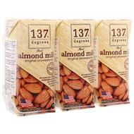Sữa hạnh nhân 137 Degrees Không đường hộp 180ml (3 hộp)
