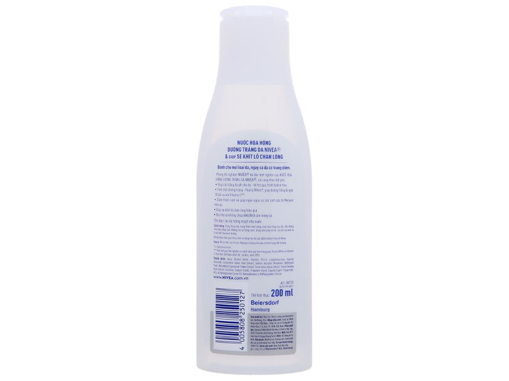 Nước hoa hồng Nivea dưỡng trắng 200ml 3
