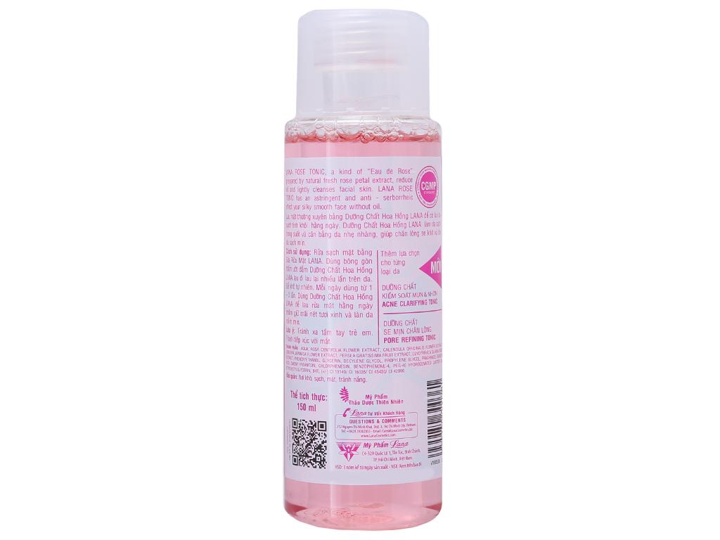 Nước hoa hồng Lana cân bằng da 150ml 3