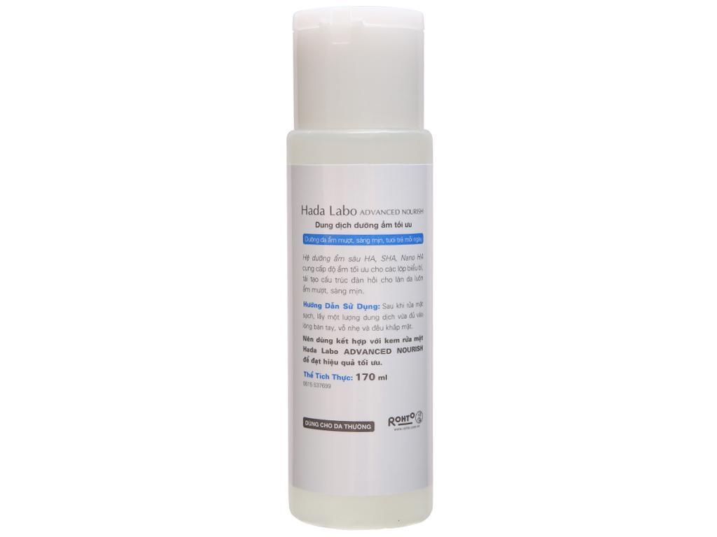 Dung dịch dưỡng ẩm tối ưu dùng cho da thường và da khô Hada Labo Advanced Nourish Lotion 170ml 4