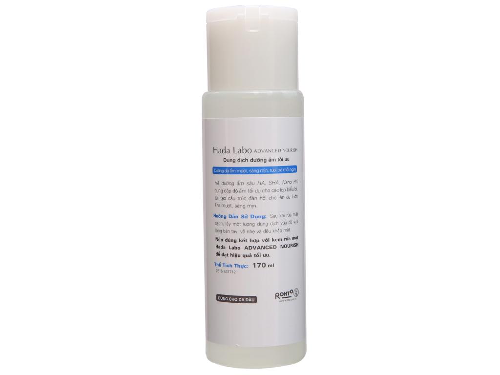Dung dịch dưỡng ẩm tối ưu Hada Labo Advanced Nourish Lotion dùng cho da dầu 170ml 4