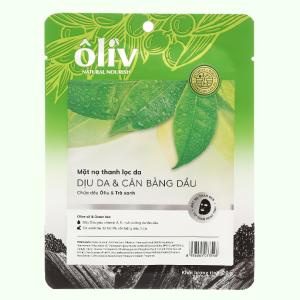 Mặt nạ chứa dầu ôliu và trà xanh Ôliv dịu da & cân bằng dầu 20g