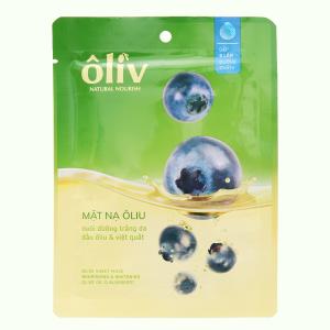 Mặt nạ giấy chứa dầu ôliu và việt quất Ôliv nuôi dưỡng trắng da 20g