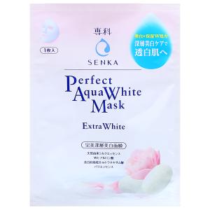 Mặt nạ Senka Perfect Aqua White dưỡng da trắng hồng 25ml
