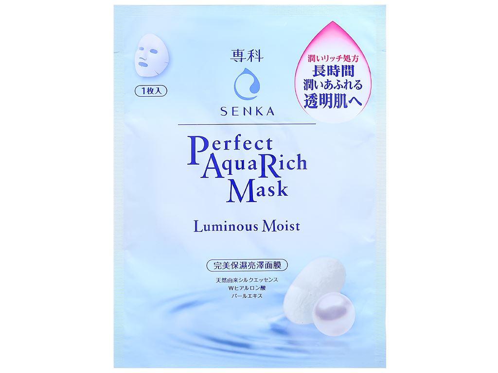 Mặt nạ Senka Perfect Aqua Rich dưỡng da sáng mịn 25ml 1