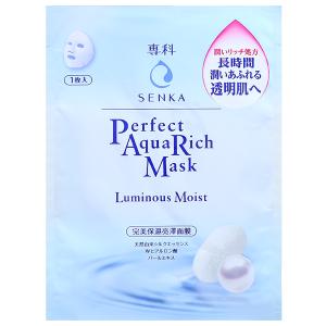 Mặt nạ Senka Perfect Aqua Rich dưỡng da sáng mịn 25ml