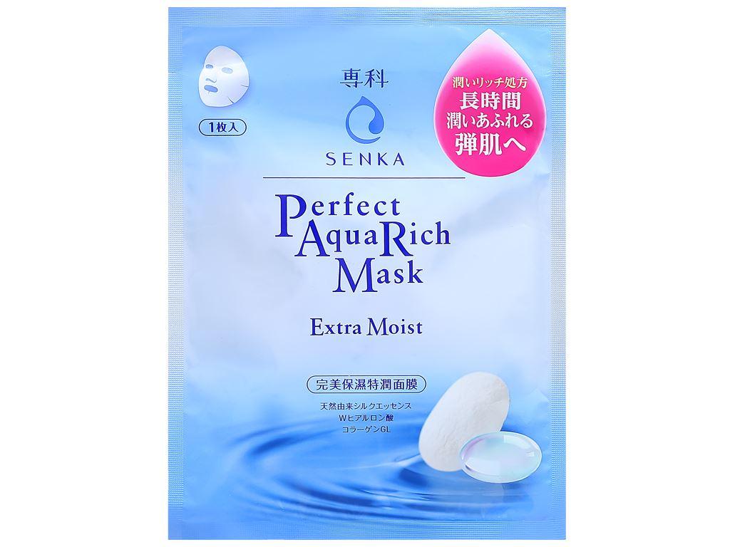 Mặt nạ Senka Perfect Aqua Rich giàu ẩm 25ml 1