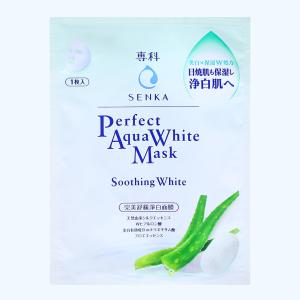 Mặt nạ Senka Perfect Aqua White dưỡng trắng dịu mát 25ml