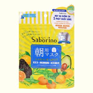 Mặt nạ dưỡng ẩm buổi sáng hương trái cây Saborino 5 cái
