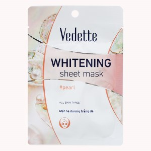 Mặt nạ giấy trắng da ngọc trai Vedette 22ml