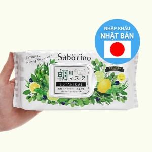 Mặt nạ dưỡng ẩm buổi sáng hương thảo mộc Saborino 28 cái