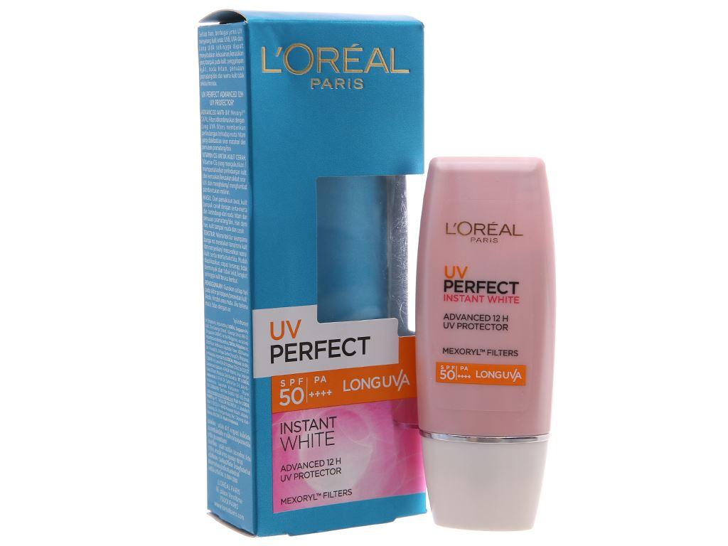 Kem chống nắng dưỡng trắng L'Oréal Instant White SPF 50/PA++++ 30ml 2