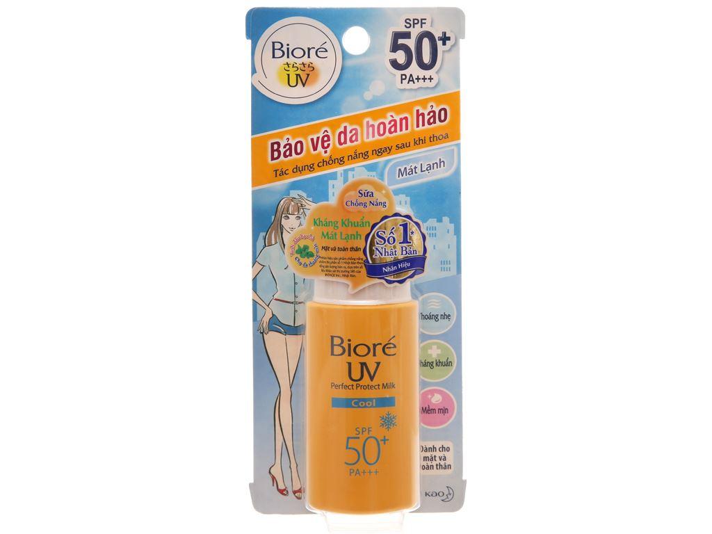 Sữa chống nắng Bioré kháng khuẩn mát lạnh SPF 50/PA+++ 25ml 2
