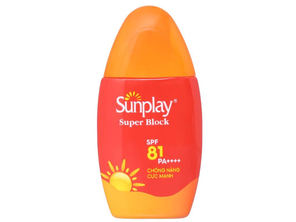Sữa chống nắng cực mạnh Sunplay Super Block kháng nước tốt SPF 81/PA++++ 30g 5