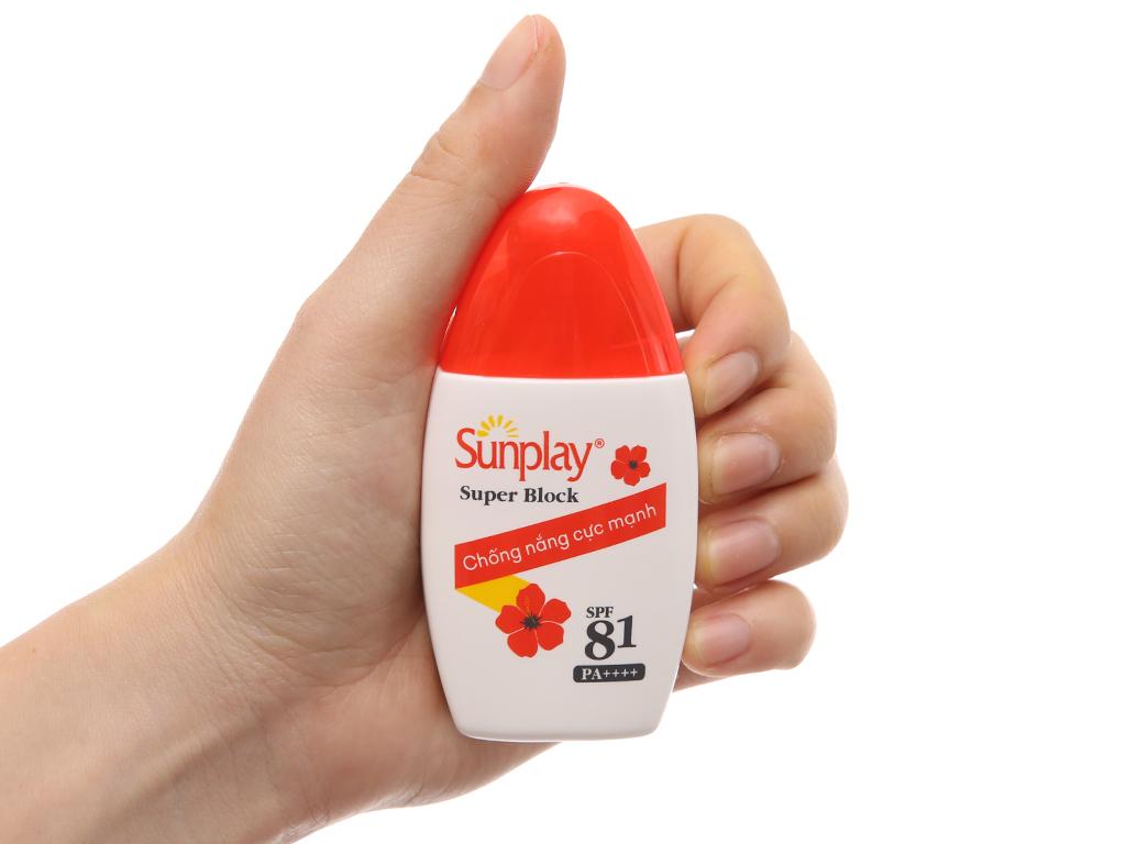 Sữa chống nắng Sunplay kháng nước tốt SPF 81/PA++++ 30g 4