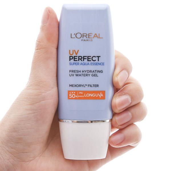 Kem chống nắng dưỡng ẩm L'Oréal Super Aqua Essence SPF 50+/PA++++ 30ml