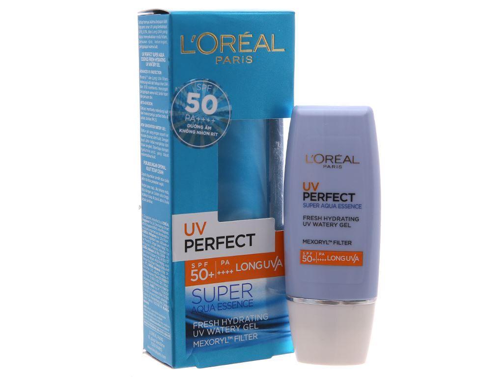 Kem chống nắng dưỡng ẩm L'Oréal Super Aqua Essence SPF 50+/PA++++ 30ml 2