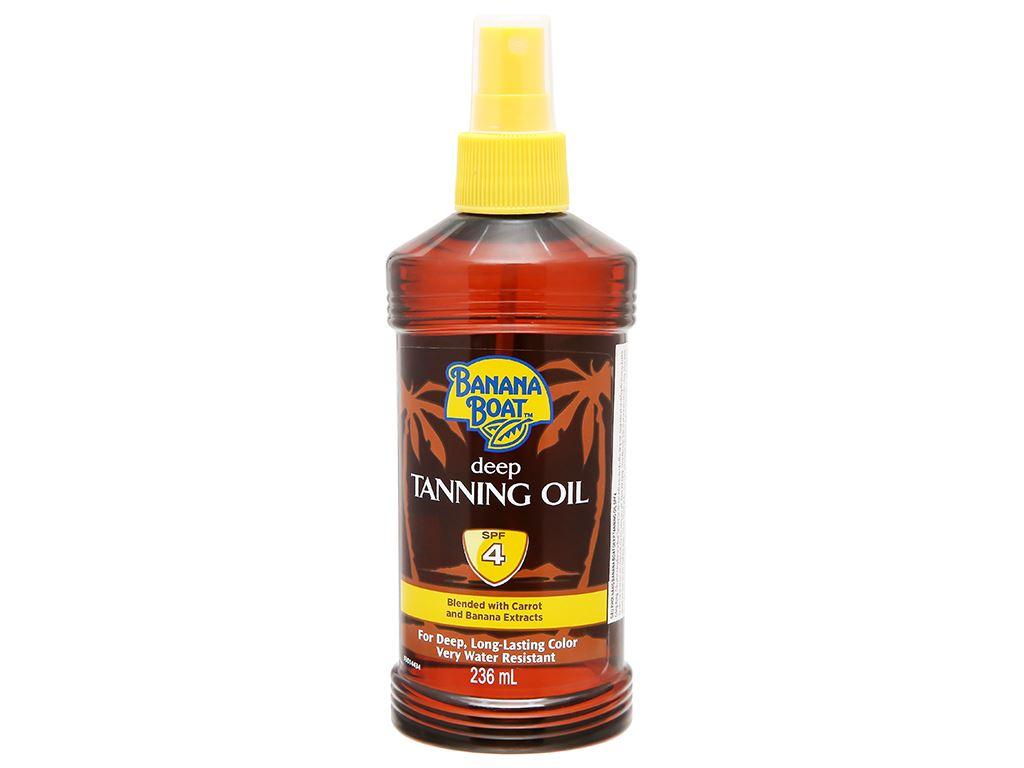 Dầu phơi nắng Banana Boat Deep Tanning Oil SPF 4 236ml 1
