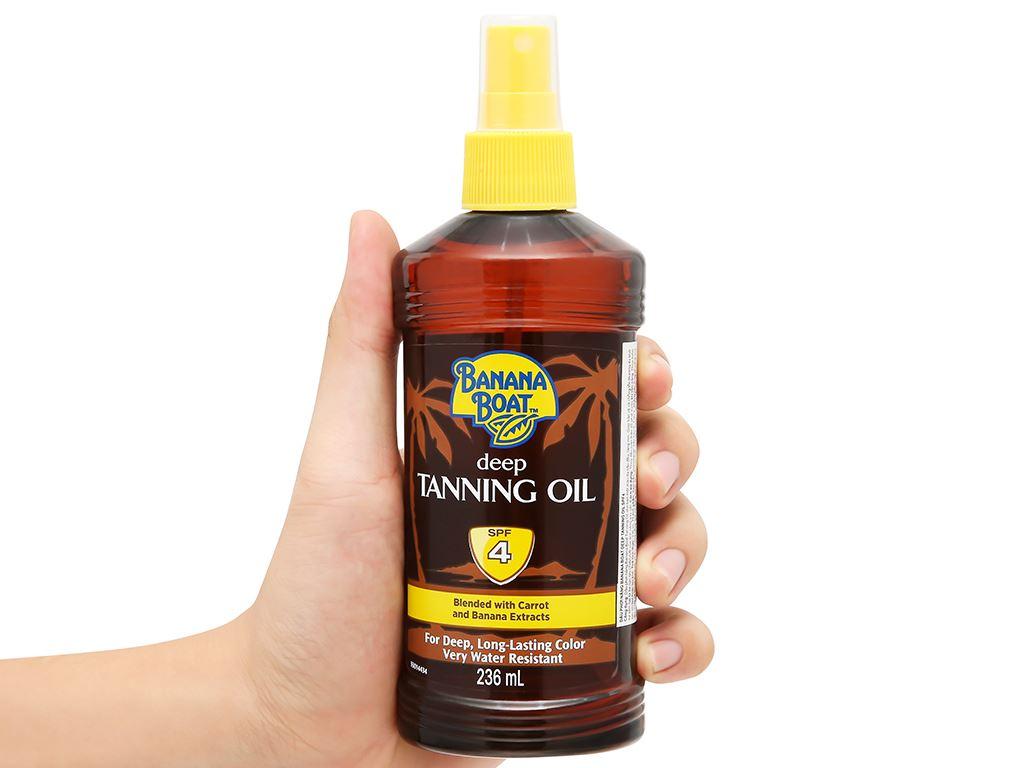 Dầu phơi nắng Banana Boat Deep Tanning Oil SPF 4 236ml 5