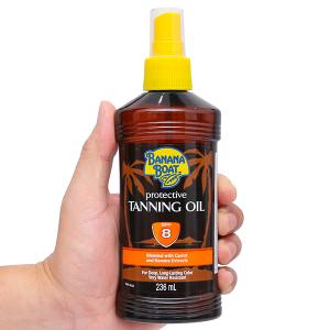 Dầu phơi nắng Banana Boat Protective Tanning Oil SPF 8 236ml