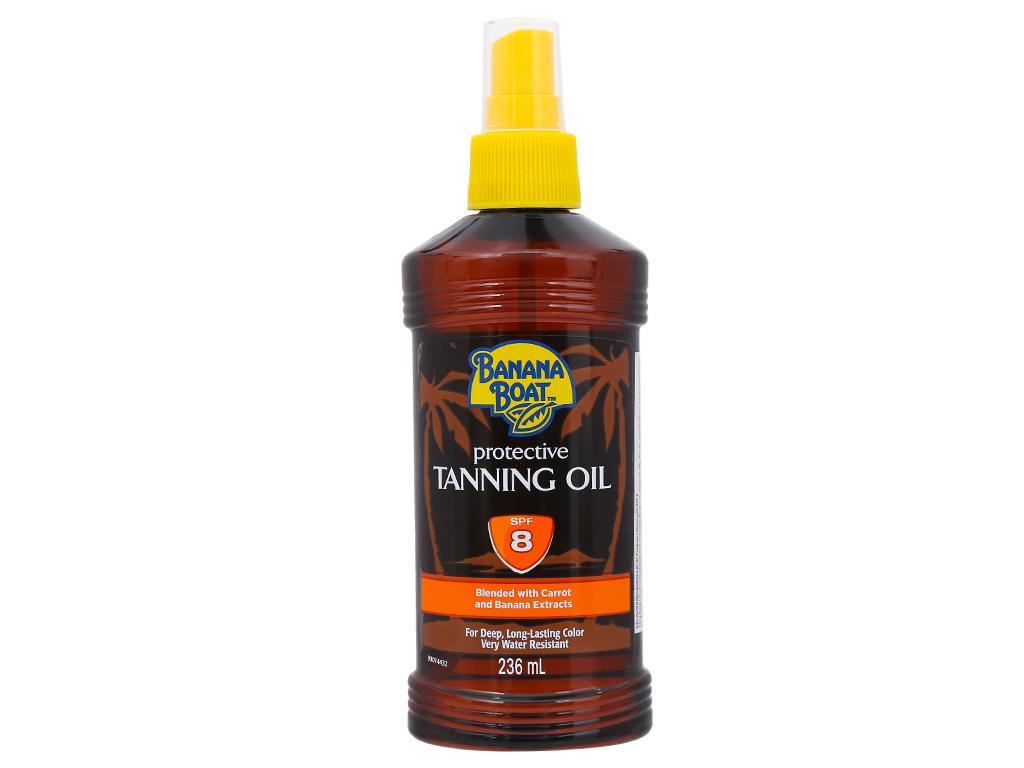 Dầu phơi nắng Banana Boat Protective Tanning Oil SPF 8 236ml 1