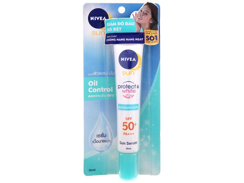 Tinh chất chống nắng Nivea dưỡng trắng kiểm soát nhờn SPF 50+/PA+++ 30ml 1
