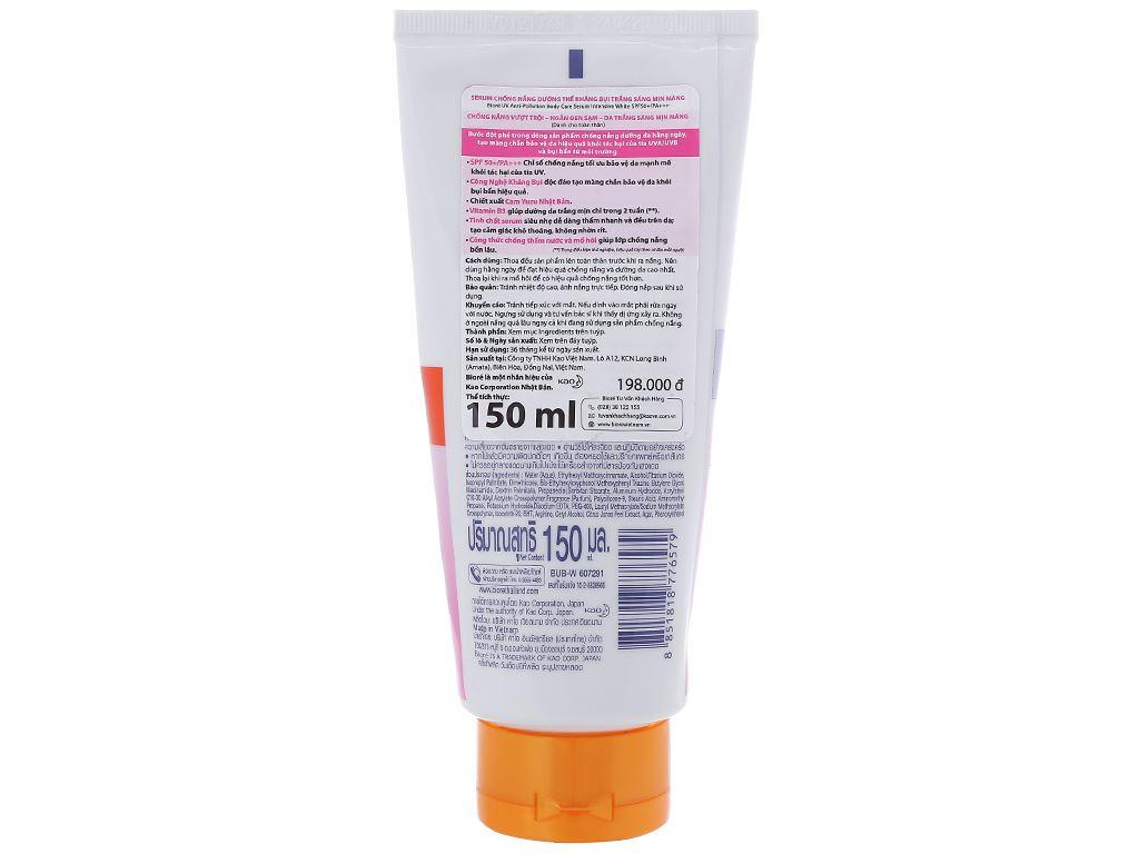 Serum chống nắng Bioré UV dưỡng thể kháng bụi SPF 50/PA+++ 150ml 2