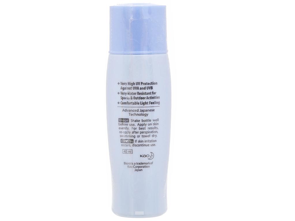 Sữa chống nắng Bioré chống thấm nước SPF 50+/PA++++ 40ml 4