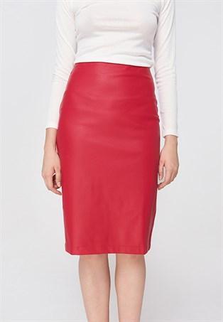 Váy da midi MARC TH127217L0I đỏ