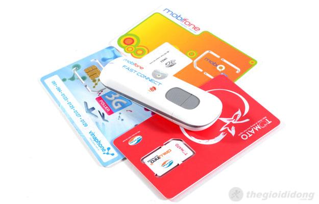 USB 3G Mobifone Fast Connect còn hỗ trợ cả mạng Viettel, Mobifone và Vinaphone