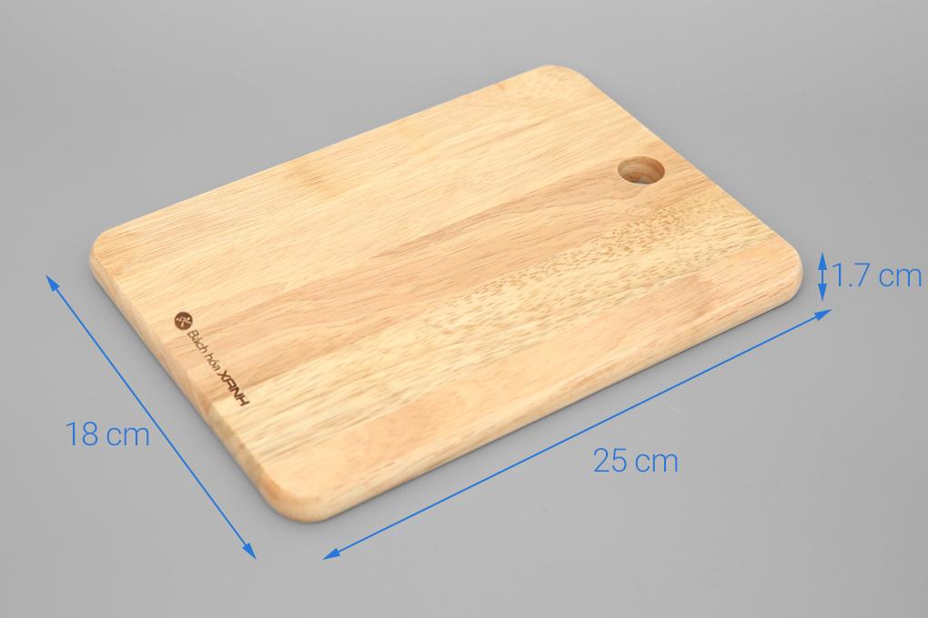 Thớt gỗ chữ nhật 25cm Bách Hoá Xanh NH2518 4