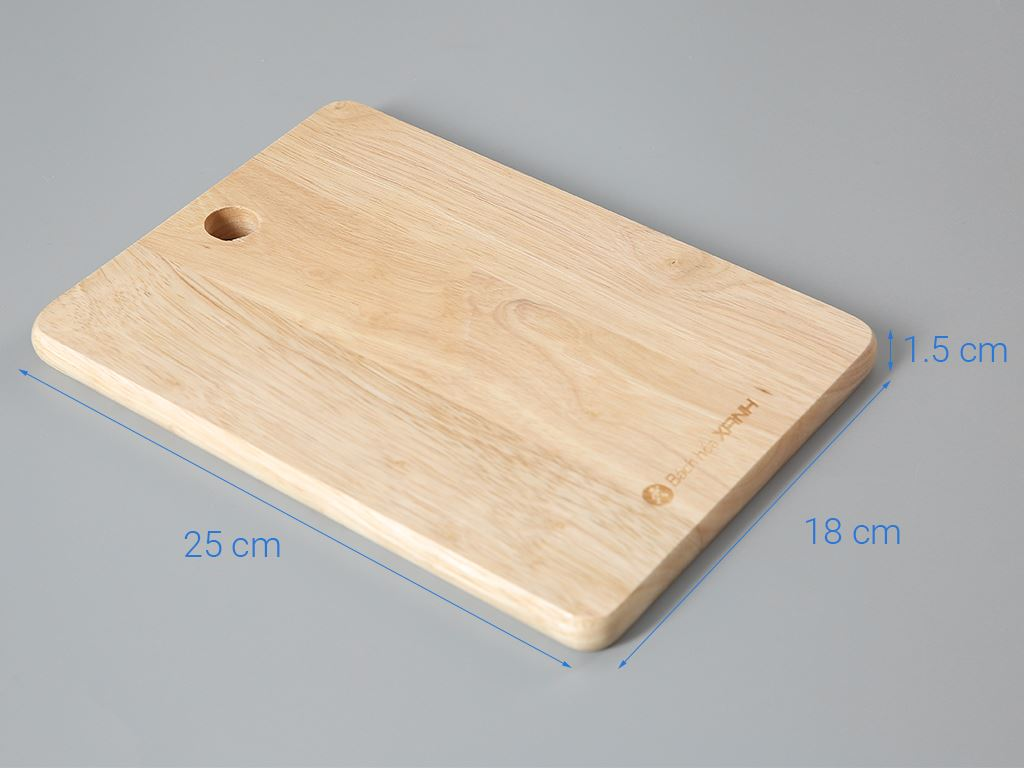 Thớt gỗ thái chữ nhật DMX NH2518 25cm 5