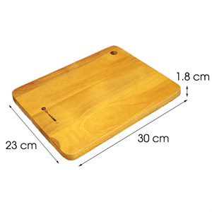 Thớt thái chữ nhật gỗ xà cừ 30 cm DMX IG4966 Thớt chữ nhật