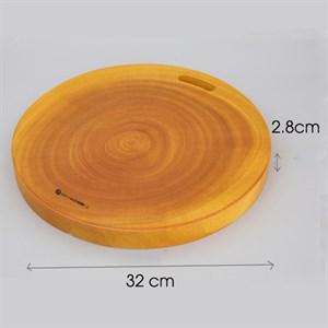 Thớt chặt tròn gỗ xà cừ 32 cm DMX IG7097 Thớt tròn