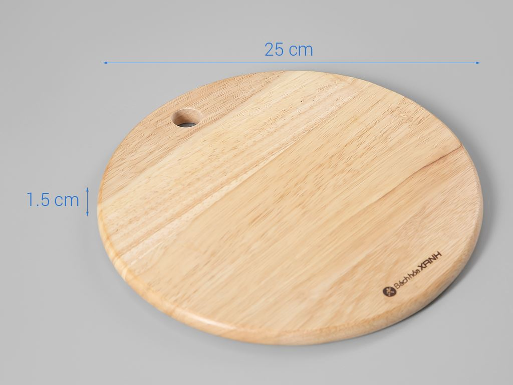 Thớt gỗ tròn 25cm Bách Hoá Xanh ĐT TT25 5