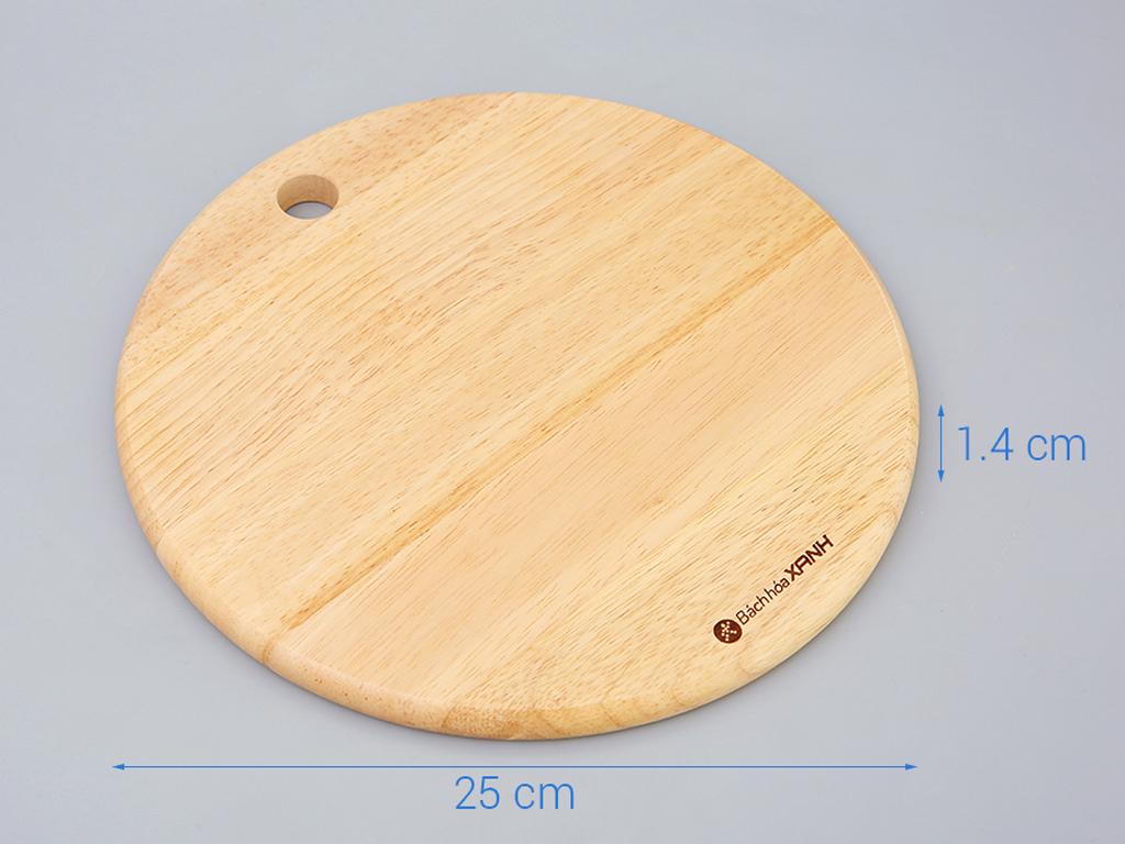 Thớt gỗ tròn 25cm Bách Hoá Xanh ĐT TT25 4