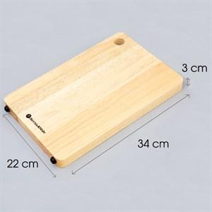 Thớt gỗ dày chữ nhật 34cm BHX ĐT TCN34 Thớt chữ nhật