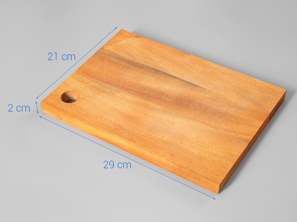 Thớt gỗ xà cừ 29cm Thanh Điền 5