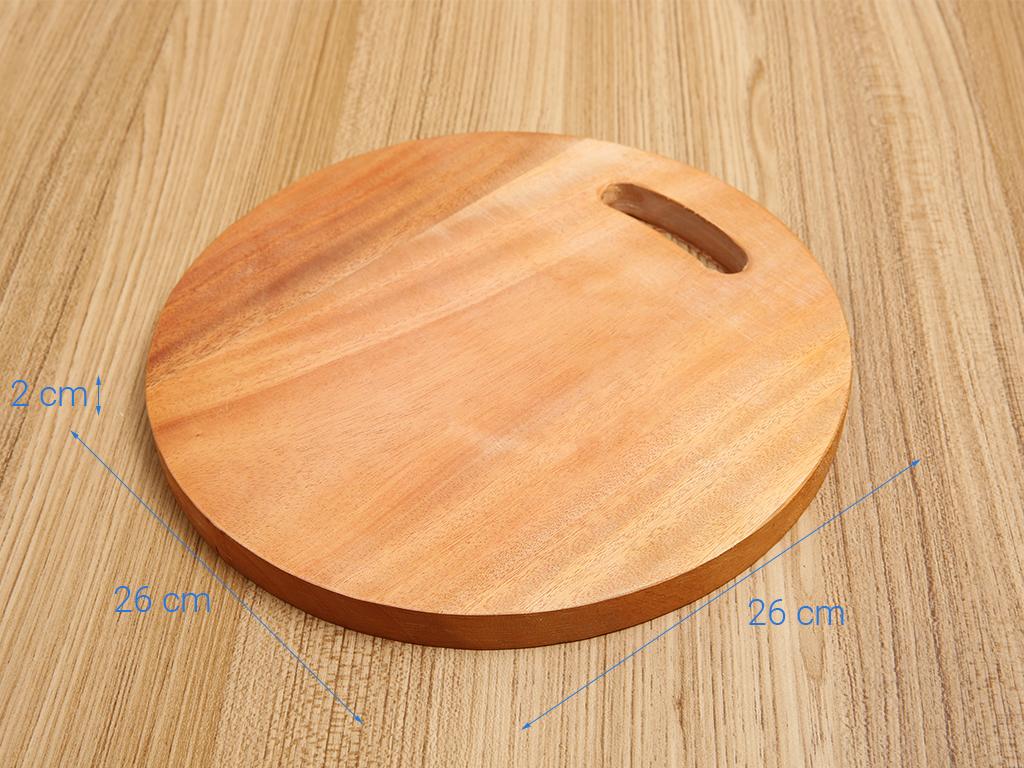 Thớt gỗ xà cừ 26cm Thanh Điền MS26 3