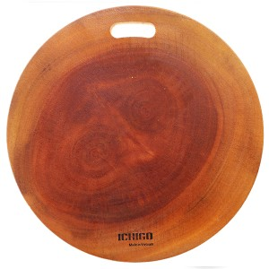 Thớt gỗ xà cừ tròn 28cm Ichigo IG-7103