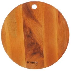 Thớt gỗ xà cừ tròn 25cm Ichigo IG-4843