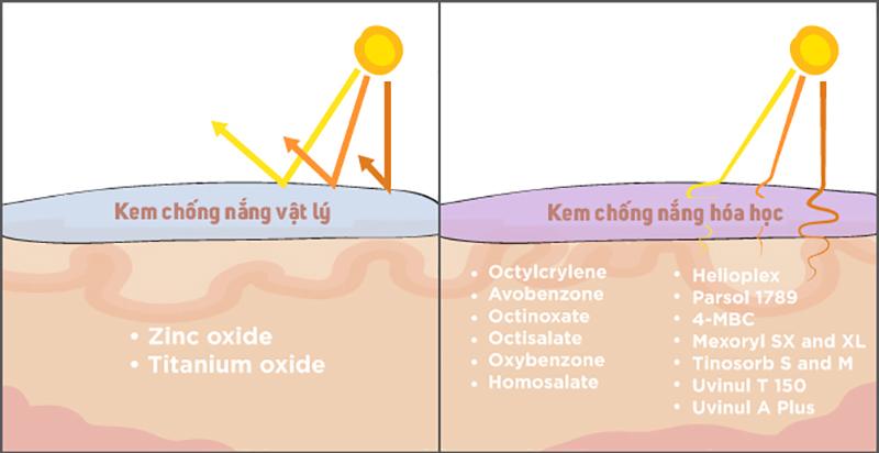 Cơ chế hoạt động của kem chống nắng vật lý