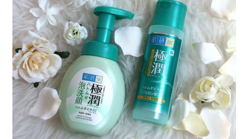 Hada Labo Gokujyun Hatomugi Foaming Face Wash