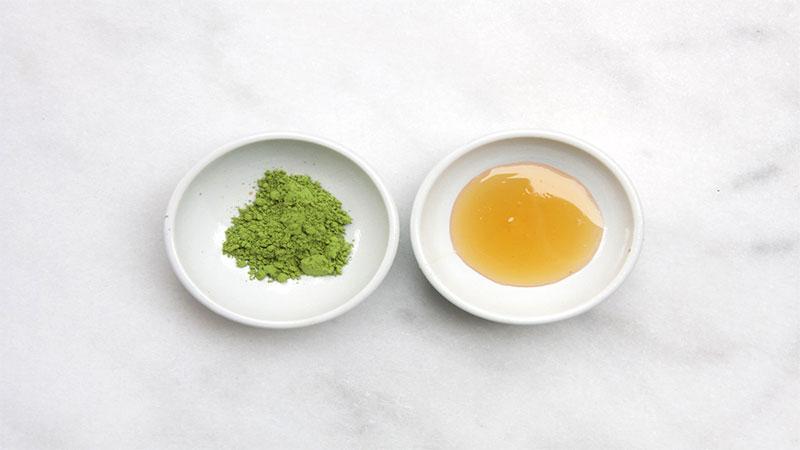 Cách làm mặt nạ trà xanh, mặt ong.