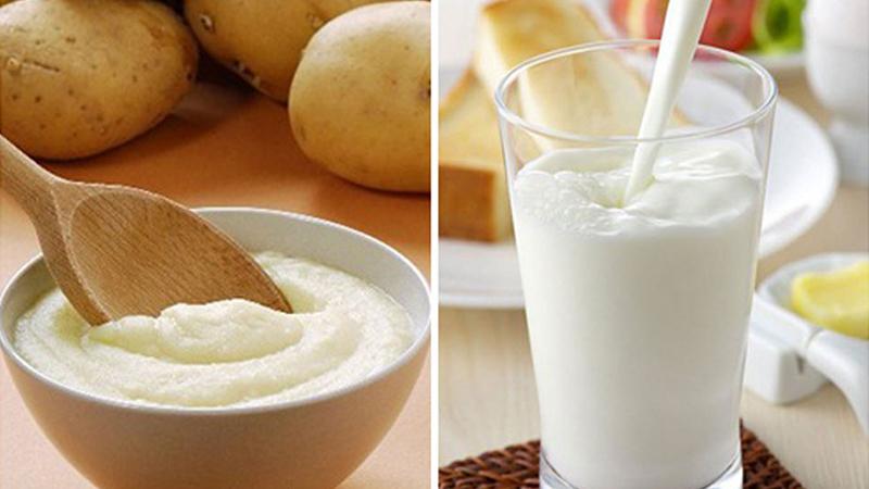 4. Mặt nạ sữa tươi, khoai tây