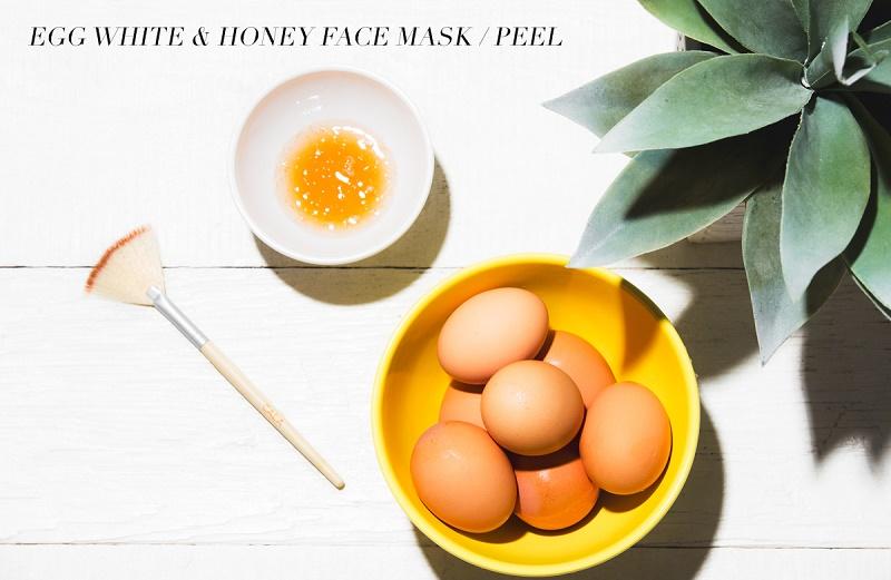 trứng gà, mật ong